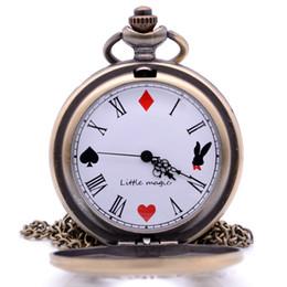 Escritura clave online-Alicia en el País de las Maravillas The Write Rabbit and Key Reloj de Bolsillo de Cuarzo Analógico Colgante Collar de Cadena Para Mujeres Para Mujeres relogio de bolso