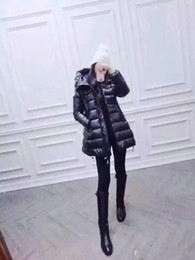 Wholesale French Parka - M160 French brand jacket parkas for women winter Ladies anorak coats hood parka New Style women jackets