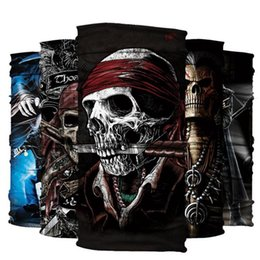 Wholesale Grey Scarf Skull - Magic Headband Death Knight Pirate Scarf Skull Skeleton Ghost Headwear Headband Neck Bandana Face Mask Scarves Headscarf