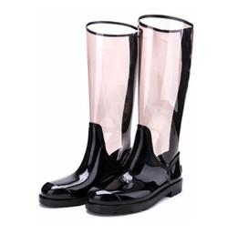 TongPu Sharon Rain Boots da donna Trasparente Nuovo design ECO-PVC posteriore Zipper 154-551 da protettore per le scarpe fornitori