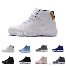 Wholesale Shoes For Men S - 2017 Air 11 XI White Black Cat Owl Basketball Shoes For Men,High Quality Mens s 11s Sports Sneakers Trainers Shoe 7-13