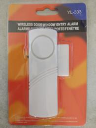 Alarmas para el hogar sensor magnético online-Sistema de alarma de seguridad anti ladrón de entrada de puerta de ventana de sensor inalámbrico magnético