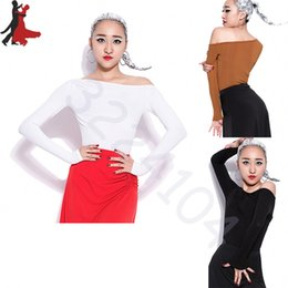 Wholesale Women Latin Dance Tops - 2018 new sexy fashion Latin dance shirt long sleeve Slim Backless Party Women top 3 Color Size S-XXL Free Shipping
