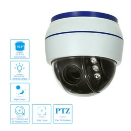 Wholesale Ir Night Vision Dome Camera - 1080P AHD 3'' Dome PTZ Camera 2.0MP 6pcs Array IR LEDs Night Vision Indoor Home Security CCTV Camera+18.3M Connection Cable
