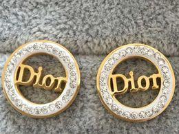 LE005 venda Quente Famosa Jóia 100% de Aço Inoxidável brincos de casamento brincos do amante de Luxo 18 k banhado a ouro de Natal Para Mulheres Dos Homens de