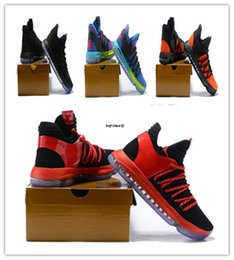 Wholesale Kd Basketball Shoes Sale - New KD 10 Basketball Shoes Hot Sale FMVP Signature Shoes Classic High Quality Kevin Durant 10 Sneaker With Box Size 40-46 Outdoor Shirts