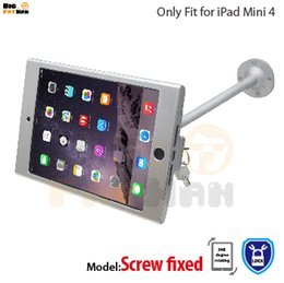 Wholesale tablet security display stand - tablet pc display flexible gooseneck wall mount holder stand for iPad mini 4 security safe locked metal box foothold support arm