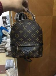 mejores mochilas para mujer Rebajas ¡El mejor precio de alta calidad! Diseño original cuero genuino mini mujeres bolsa niños mochila de lujo moda famosa Springs Palm 41560