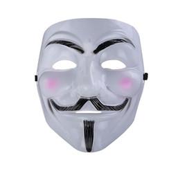 V para a máscara da vingança Fawkes anónimo Guy Fawkes Máscara extravagante do traje fresco extravagante para partidos, carnavais Um tamanho cabe a maioria de adolescentes aos adultos de