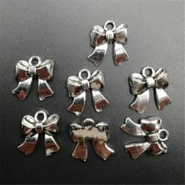 5 piezas pajarita tibetana aleación de plata del encanto del colgante de joyería del grano que hace desde fabricantes