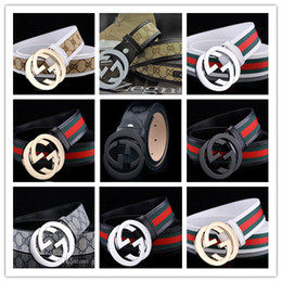 Wholesale Hot 32 - Hot sale brand buckle Designer Belt High Quality Designer Luxury Belt For Men or Women Genuine Leather Belts Gold Silver Buckle for gift