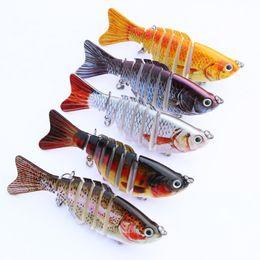 Wholesale multi jointed fishing lures - 5pcs set 10cm 12.5g Popular Fishing Lure Multi Jointed Swim Bait Lifelike Hard Fish Bait Artificial Crankbait Tackle MML01