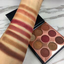 HOT !! Beleza Glazed 9 Cores Shimmer Glitter Pressionado Em Pó Da Paleta Da Sombra Borgonha Bronze Maquiagem Marca Cosméticos Sombras de Olho Beleza de Fornecedores de brilho de borgonha