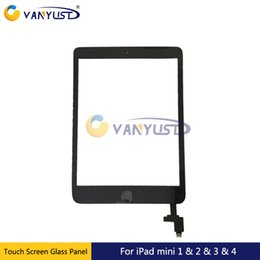 grading panel Coupons - Grade AAA Touch Screen Glass Panel with Digitizer Buttons Adhesive For iPad 2 3 4 Black White Replacement