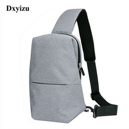 Wholesale Open Chest Women - Summe New Unisex Men Messenger Bag Chest Pack Brand Design Korean and Japan Style Simple Women Shoulder Cross Body Bags for Ipad
