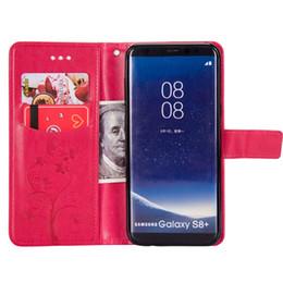 étui portefeuille samsung galaxy a5 Promotion Flip Case Portefeuille en cuir pour Samsung Galaxy S6 S7 S8 bord A3 A5 plus A7 Version US UE J3 Note 5 8