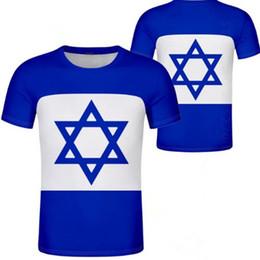 2019 bandiere israeliane Ungheria Israele Unisex gioventù studente ragazzo su misura nome numero t shirt Bandiera nazionale personalità tendenza selvaggia coppie casual t shirt vestiti sconti bandiere israeliane