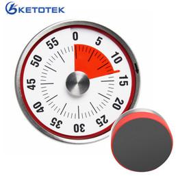 Contadores de tiempo online-Temporizador de cocina mecánico Acero inoxidable que cocina el contador del despertador con el recuento manual magnético del recordatorio de la hornada del Bbq
