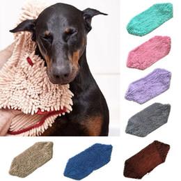 2019 toalhas de microfibra pet 80 * 35 cm microfibra gato cão toalhas - toalha de secagem do animal de estimação - secagem rápida forte absorção de água banho pet towel 7 cores toalhas de microfibra pet barato