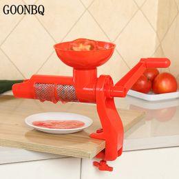 Wholesale Manual Hand Press Machine - Goonbq 1 Pc Tomato Squeezer Plastic Hand Manual Tomato Juice Press Machine Fruits Squeezer Tomato Sauce Juicer Tool