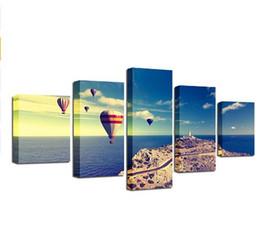 Доставка картин онлайн-Бесплатная доставка 5 шт. Лесной водопад Зеленое озеро картины пейзаж искусство Portait плакат стены фотографии гостиная холст Живопись