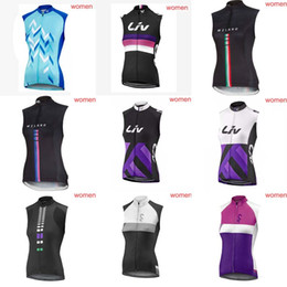 Wholesale Lycra Tops For Women - LIV team Cycling Sleeveless jersey Vest new hot Short Sleeves Summer Style For women Wear Comfortable Breathable 840905