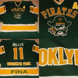 Wholesale S Pirate - VTG-1990s Brooklyn Park Pirates Minnesota High School Game Worn Hockey Jersey 100% Stitched Embroidery Logos Throwback Hockey Jerseys