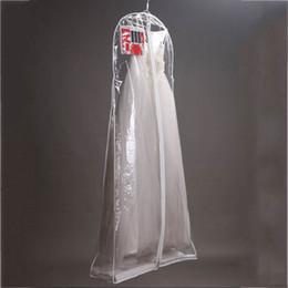 Wholesale Bridal Wedding Clothes - Clear Wedding Dress Cover Storage Bags Dustproof Large Bridal Gown Garment 160 170 180CM