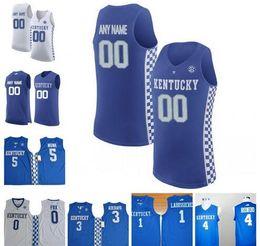 04f830c45643 Custom Kentucky Wildcats NCAA 3 Hamidou Diallo 4 Rajon Rondo 11 John Wall  12 Karl-Anthony Towns 15 DeMarcus Cousins 23 Anthony Davis Jerseys