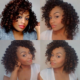 hair wand curls Coupons - Jamaican Bounce Crochet Braiding Hair Extensions Crochet Braids Jumpy Wand Curls Synthetic Blonde Hair