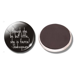 Wholesale Wholesale Magnets For Refrigerator - Shakespeare Quote 30MM Fridge Magnet Glass Dome Refrigerator Stickers Magnetic Black Magnets for Decoration Home Decor Message