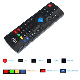 Wholesale Android Mx - Rii MX-3 2.4GHz Fly Air Mouse Wireless Keyboard Remote For Android Smart TV Remote Control