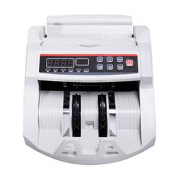 Máquinas de contar online-Nueva pantalla LCD Contador de billetes Cuenta de dinero Contador de falsificaciones UV MG Efectivo Banco Detector de alta calidad