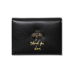 Wholesale bee coin - 2018 Women Wallet Bee Luxury Designer Leather Honey Fashion Leather Coin Purse Lady Credit Card Holder Female