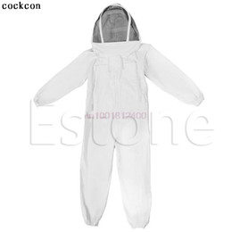 beekeeping equipment Promo Codes - New Beekeeping Veil Cotton Full Body Suit Hat Smock Protective Equipment XXL