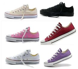 Wholesale Top Wholesalers Shoes - 2019 High Quality New Unisex Low-Top & High-Top Adult Women's Men's star Canvas Shoes 14 colors Laced Up Casual Shoes Sneaker shoes retail
