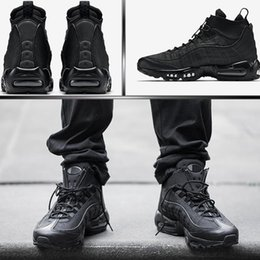 Wholesale Black Work Flats - Authentic 95 Cushion Mens Boots Hight Top Sneakers Waterproof Maxes 95 Men's Shoes Ankle Boots Size 40-46