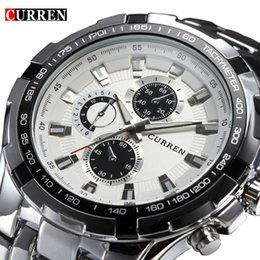 Curren  Sport Mens Watches Top  Stainless Steel Quartz Men Watch Male Fashion Casual Clock Relogio Masculino от