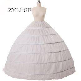 ZYLLGF Cheap Ball Gown 6 Hoops Enagua boda deslizamiento Crinolina nupcial falda Slip 6 aro falda Crinolina para vestido de quinceañera desde fabricantes