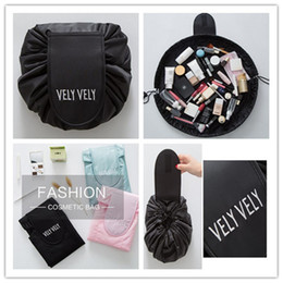 Wholesale fresh storage - 2018 Vely vely Lazy makeup bags mini cosmetic bag portable Large Capacity Organizer Storage travel Portable Drawstring wash magic Pouch bag
