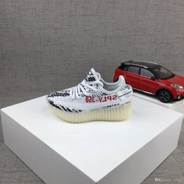 Wholesale Baby Winter Running Shoes - Baby Kids Run Shoes Kanye West SPLY 350 Running Shoes Boost V2 Children Athletic Shoes Boys Girls Sneakers All colors ia