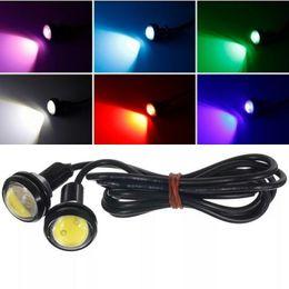 Águia olho led inverter luzes on-line-12 V 10 W 18 MM LED Águia Olho Reverso Da Motocicleta Porta Do Carro Interior Luzes Decorativas DHL Frete Grátis