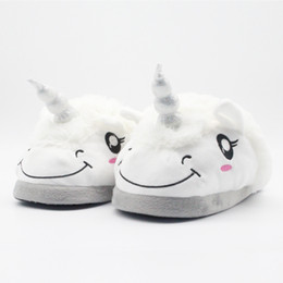 2019 sapatos de bebê europa Bebê bonito adulto sllipper animal dos desenhos animados unicórnio sapatos de pelúcia macia quente sapatos Europa e América crianças meninos meninas sapatos desconto sapatos de bebê europa