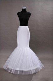 Wholesale Wedding Quinceanera - 2018 Mermaid Petticoats Adjustable Sizes Crinoline Bridal Accessories Underskirt for Wedding Prom Quinceanera Dresses