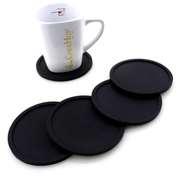 Wholesale round table furniture - 5 Colors Silicone Coasters for Drinks - Rubber Table Cup Drink Coaster Coffee Mug Mat - Perfect To Protect Your Furniture