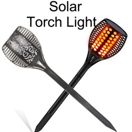 Wholesale solar power auto - Solar Garden Lights, Solar Torch Light, Solar Powered LED Flame Effect Light, Outdoor Landscape Decoration Path Lighting, Dusk to Dawn Auto