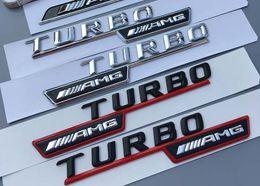 Argentina 2 unids / set Mercedes benz A45 C63 A63 amg turbo logo insignia marca fender emblema etiqueta adhesiva Suministro
