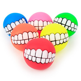 Wholesale Dog Squeaker Ball - Pet Puppy Dog Funny Ball Teeth Silicone Toy Chew Sound Dogs cat Play Toys Soft Rubber Dog Chew Squeaker Squeaky toy trainning