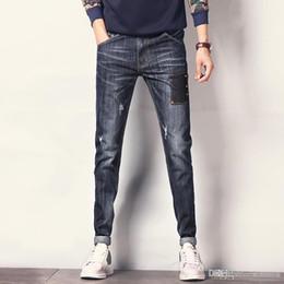b40deb42804 ripped jeans korean fashion 2019 - Wholesale- 2017 Fashion Brand Ripped  Jeans Men Denim Pants