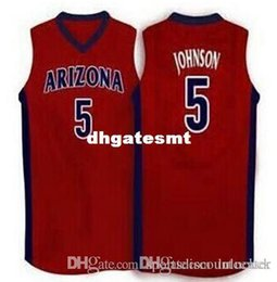 Factory Outlet  5 stanley johnson Arizona Wildcats Red white vest Jerseys  Embroidery Stitched Personalized Custom any size and name ca004d13cfe5